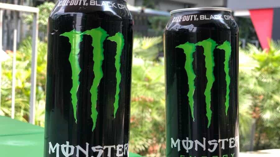 Two cans of regular Monster