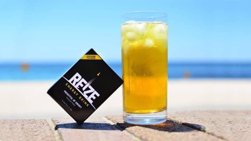 REIZE contains 50mg of caffeine per serve
