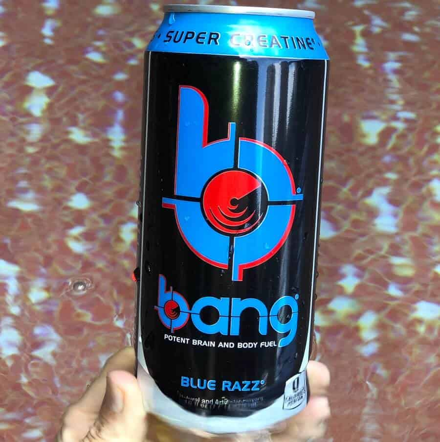 Bang energy drink can.