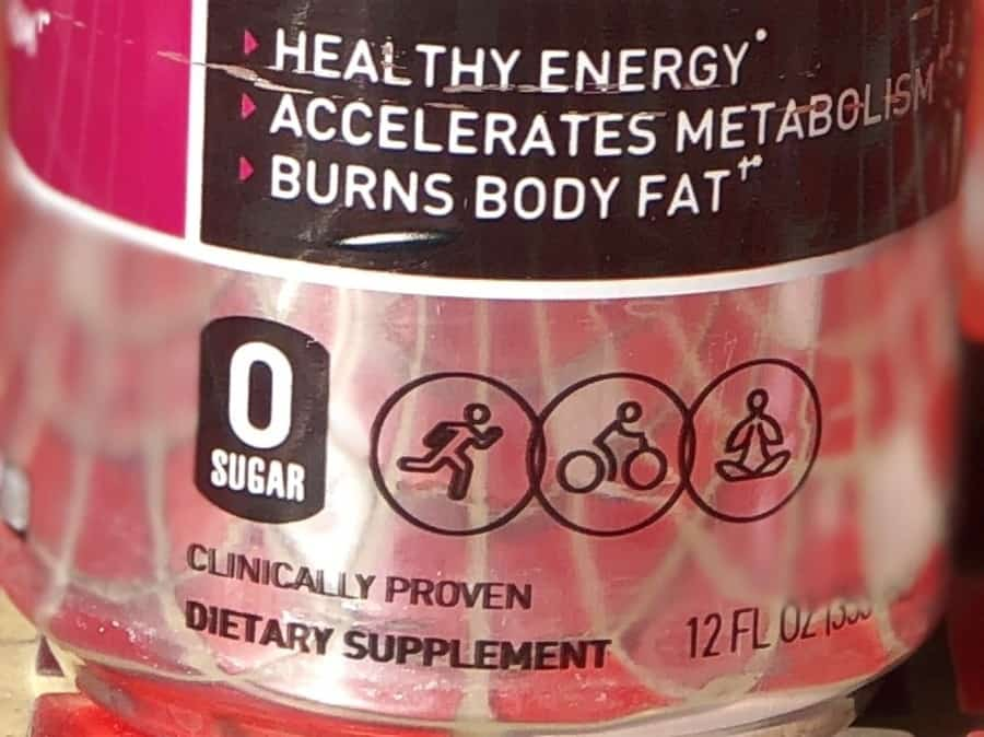Close shot at a can of Celsius energy drink