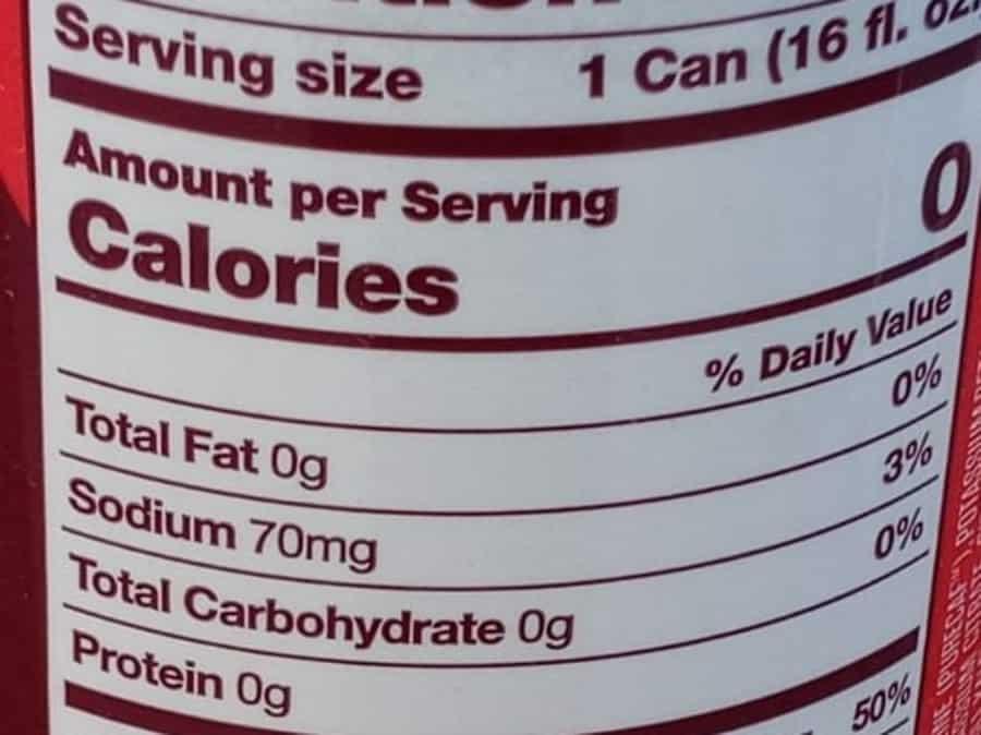 GFuel Can Calories