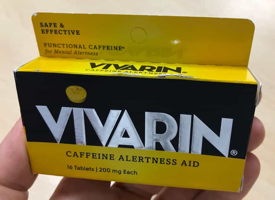 Vivarin tablets in a packet