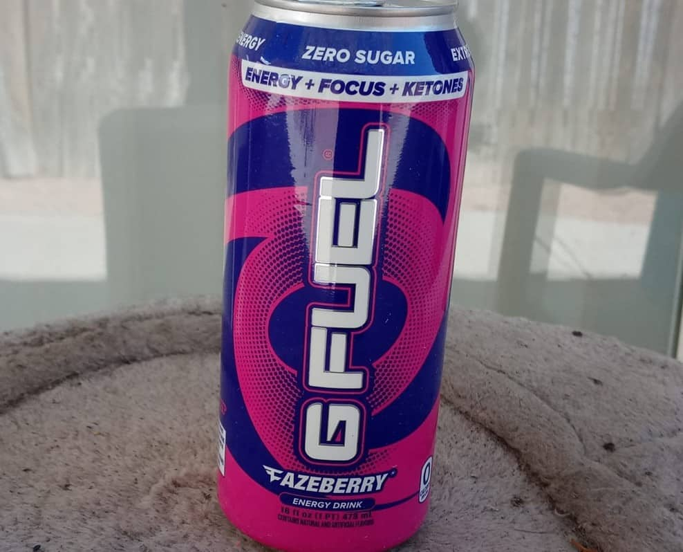 G Fuel Cans Caffeine and Ingredients (Detailed)