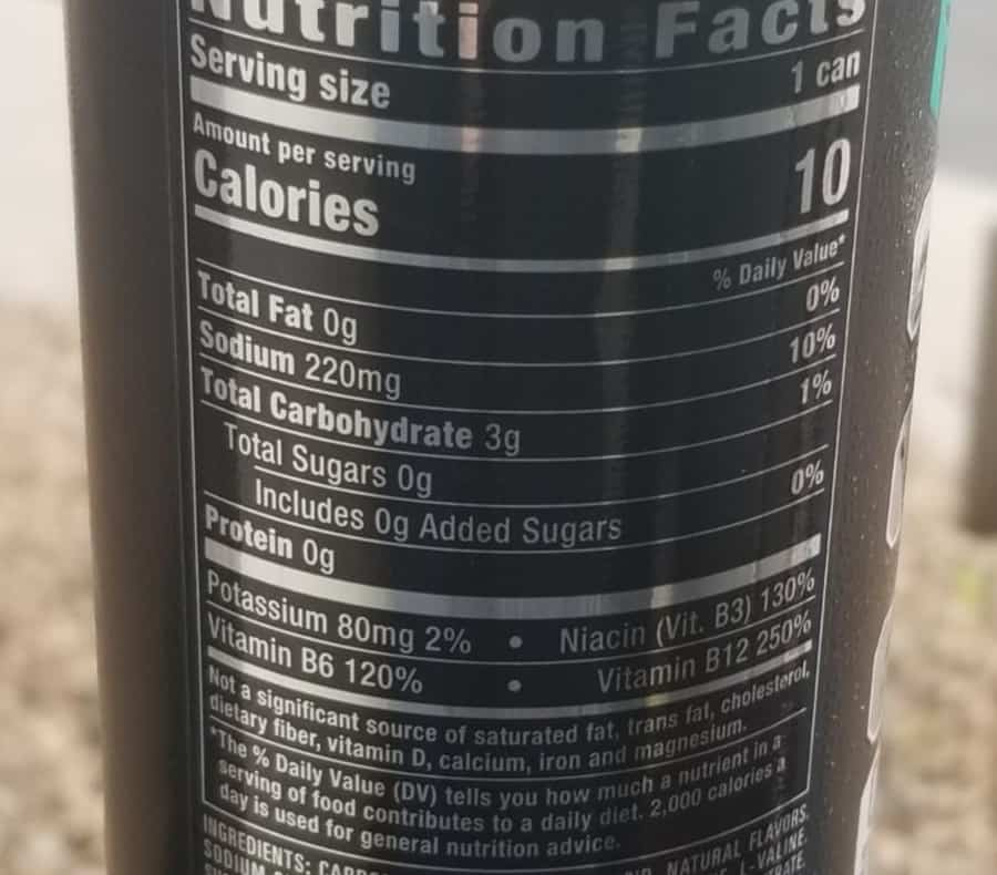 The nutritional facts behind a can of Reign Energy Drink.