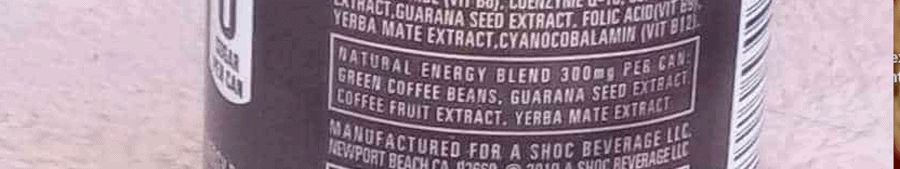 Additional information on the back of the can