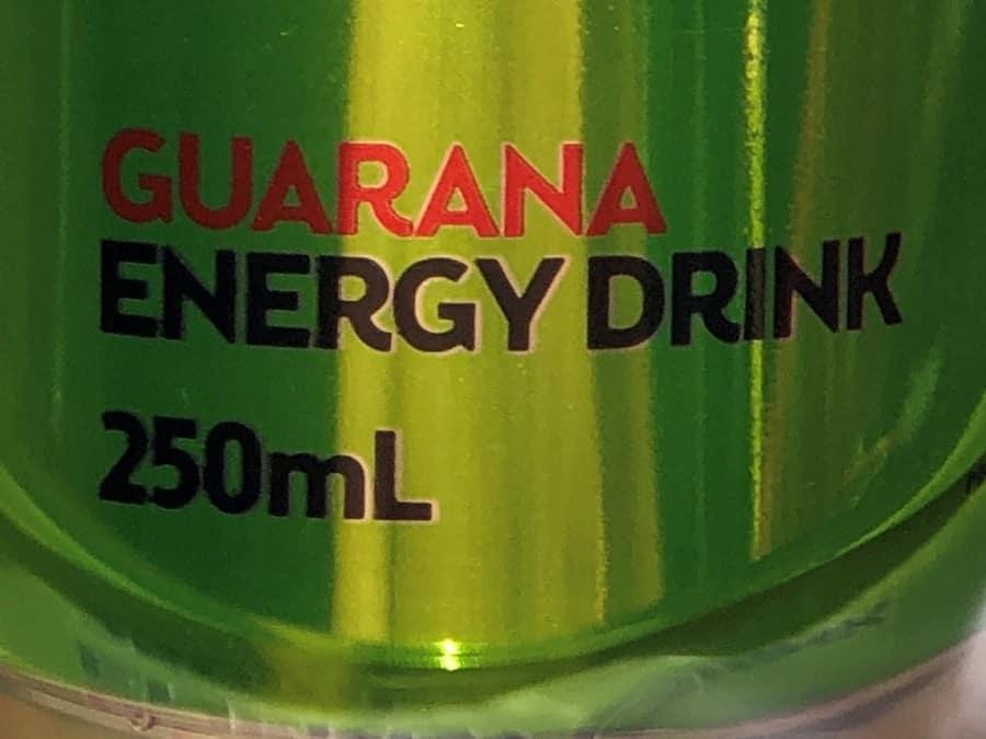 V Energy Drink Guarana Label