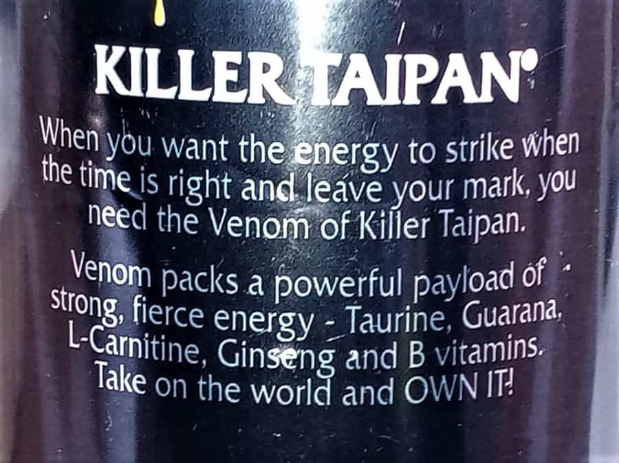 Venem Energy Drink Slogan