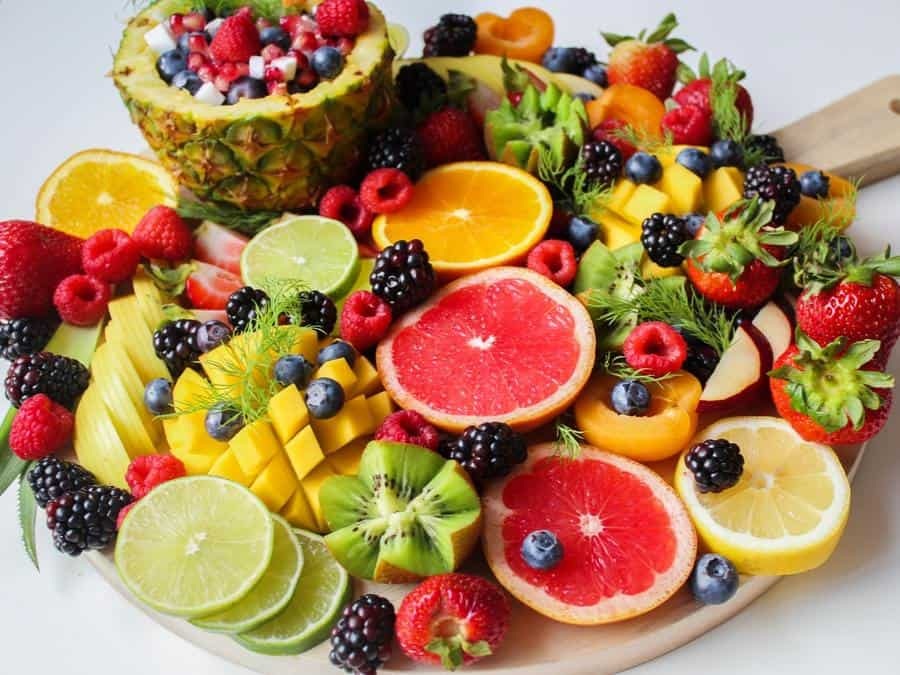 A variety of fruits served on a platter