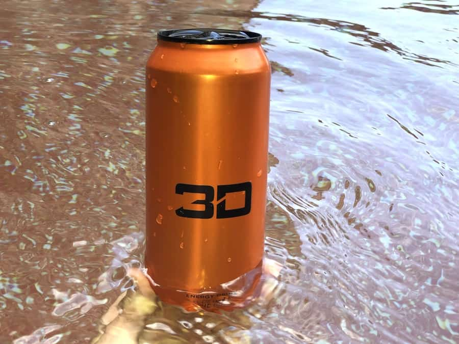 3D Energy Drink Sunburst can