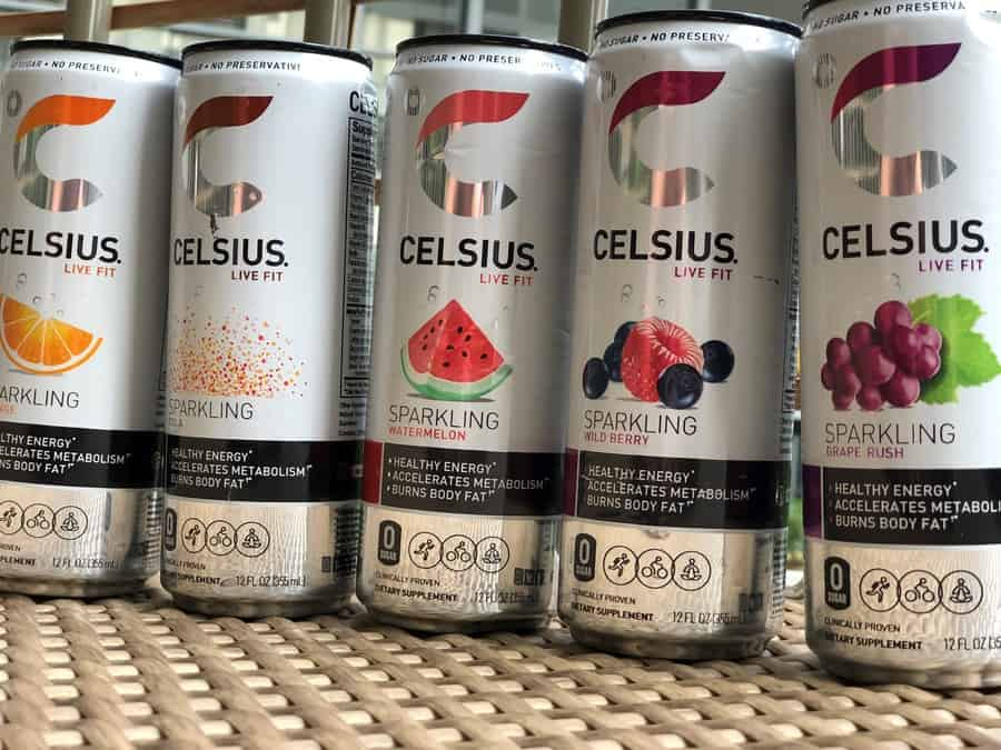 Celsius Energy Drinks side by side