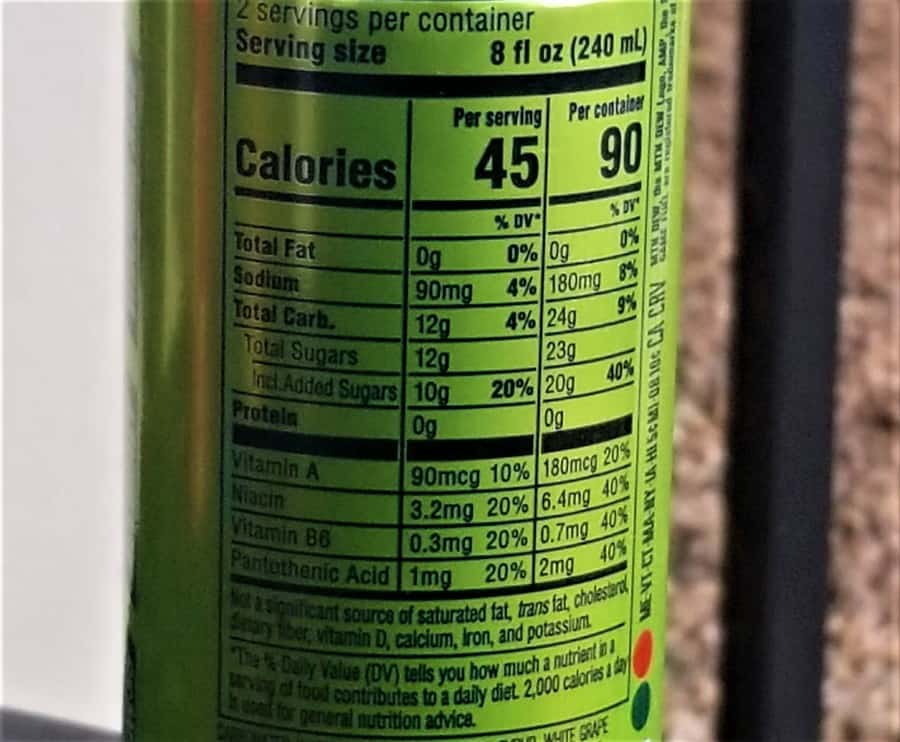 Game Fuel Mountain Dew Nutrition Facts