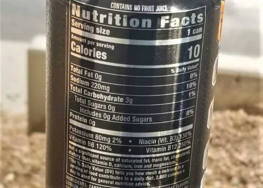 Reign Energy Drink Nutrition Facts