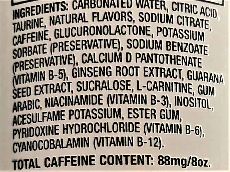 Xyience Energy Drink Ingredients.