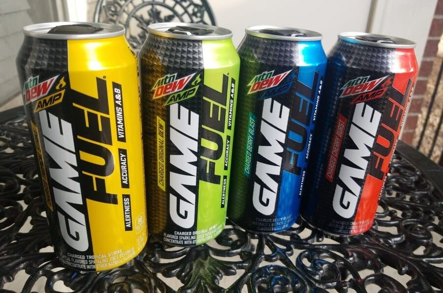 Game Fuel energy drinks in four different flavours.