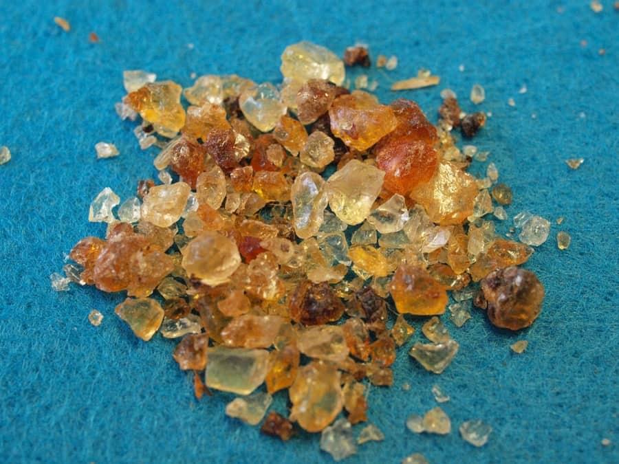 Gum Arabic fragments
