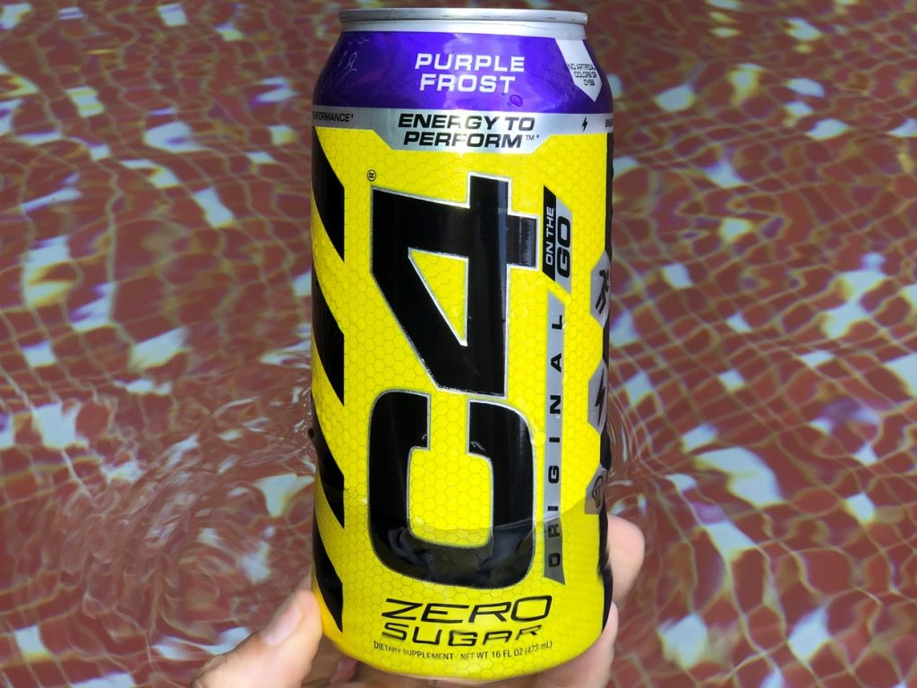 a 16 fl.oz can of C4 Energy.