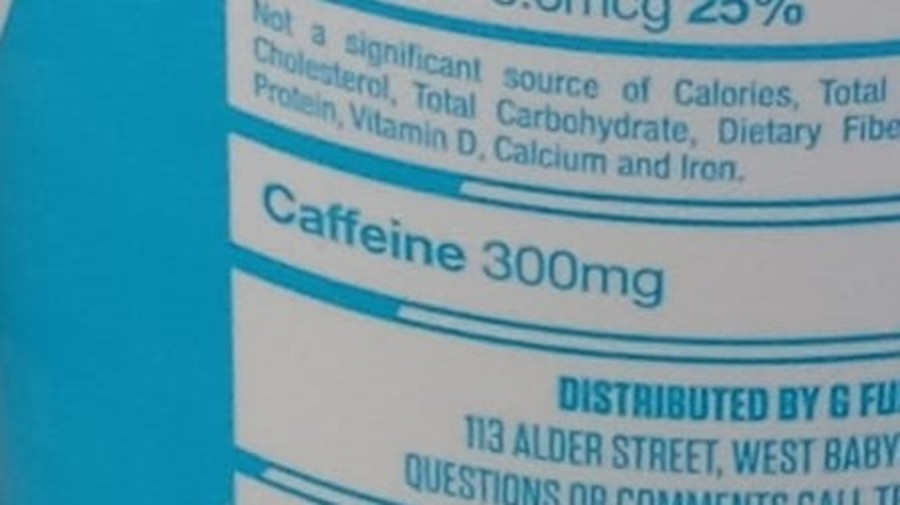 A picture of G Fuel Can caffeine level