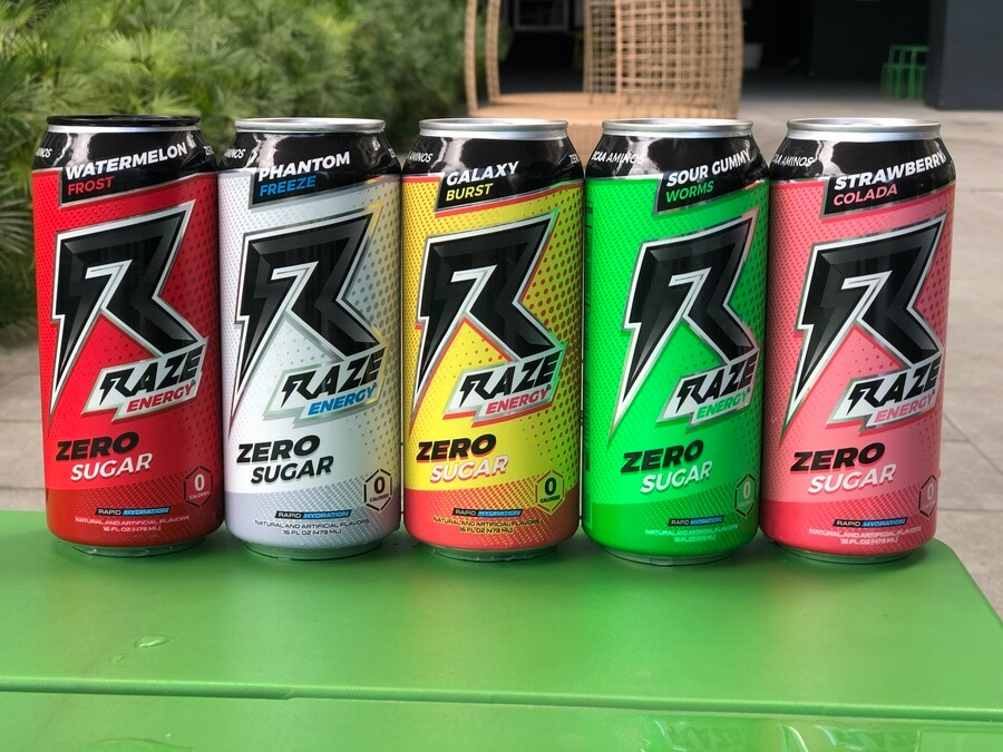 A picture of Raze Energy Drinks