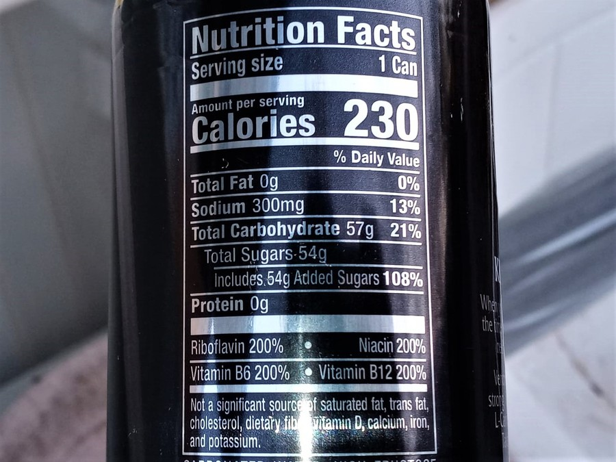 A picture of Venom Energy Drink Nutrition Facts