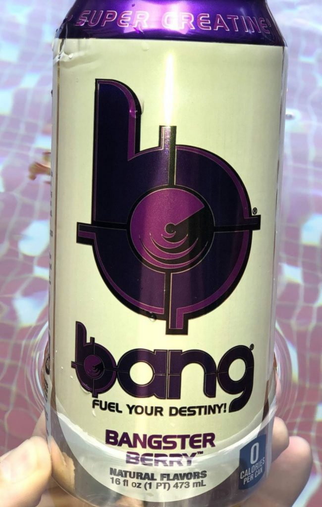 Close up of a can of Bang Energy Drink.