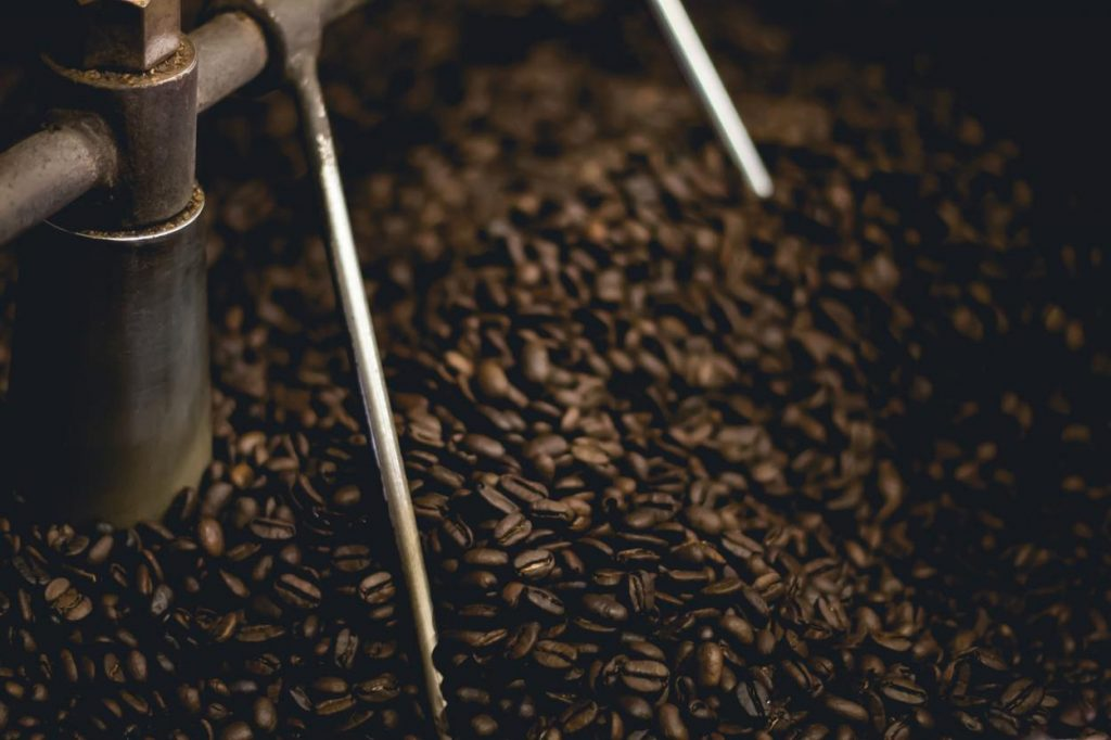 Coffee beans being sorted.