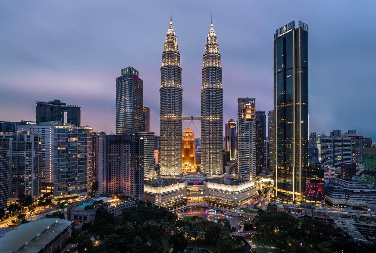 A view of Kuala Lumpur city.