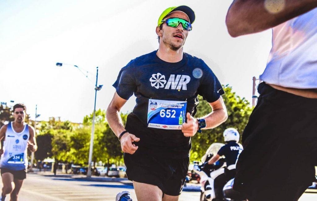 Runners in a marathon.