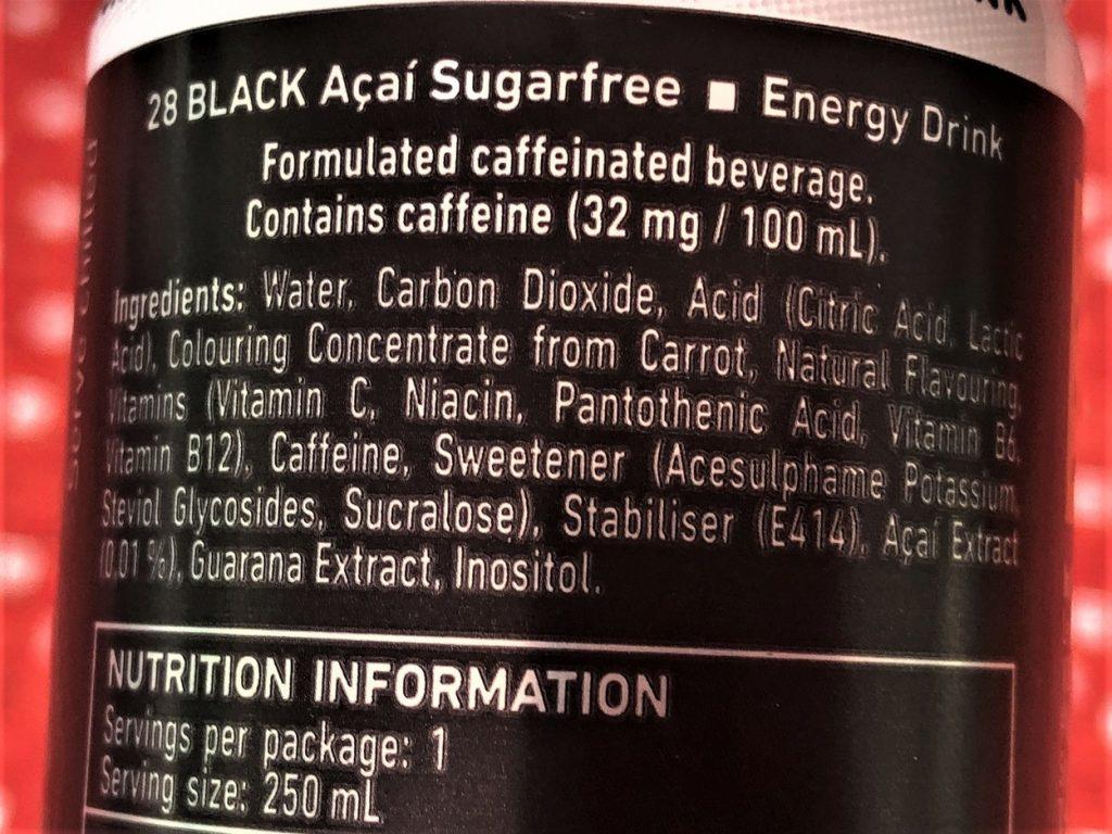 28 Black Ingredients List