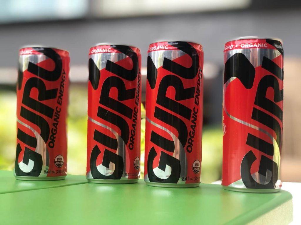 A can of guru energy drink