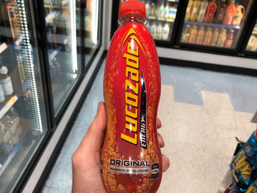 Picture of a bottle of Lucozade