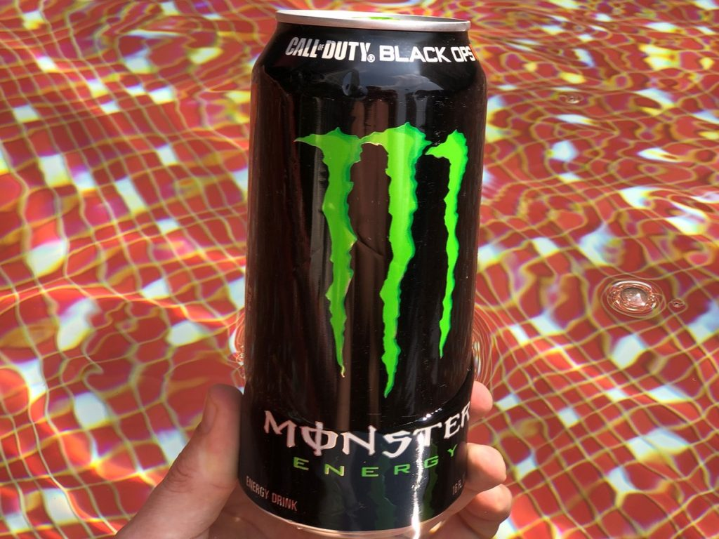 A can of Monster.