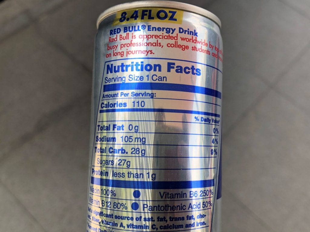 Red Bull Can Nutrition Facts