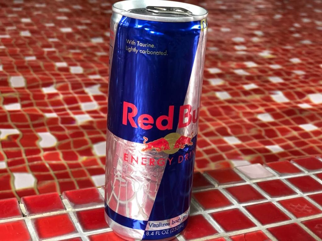 A can of Red Bull.