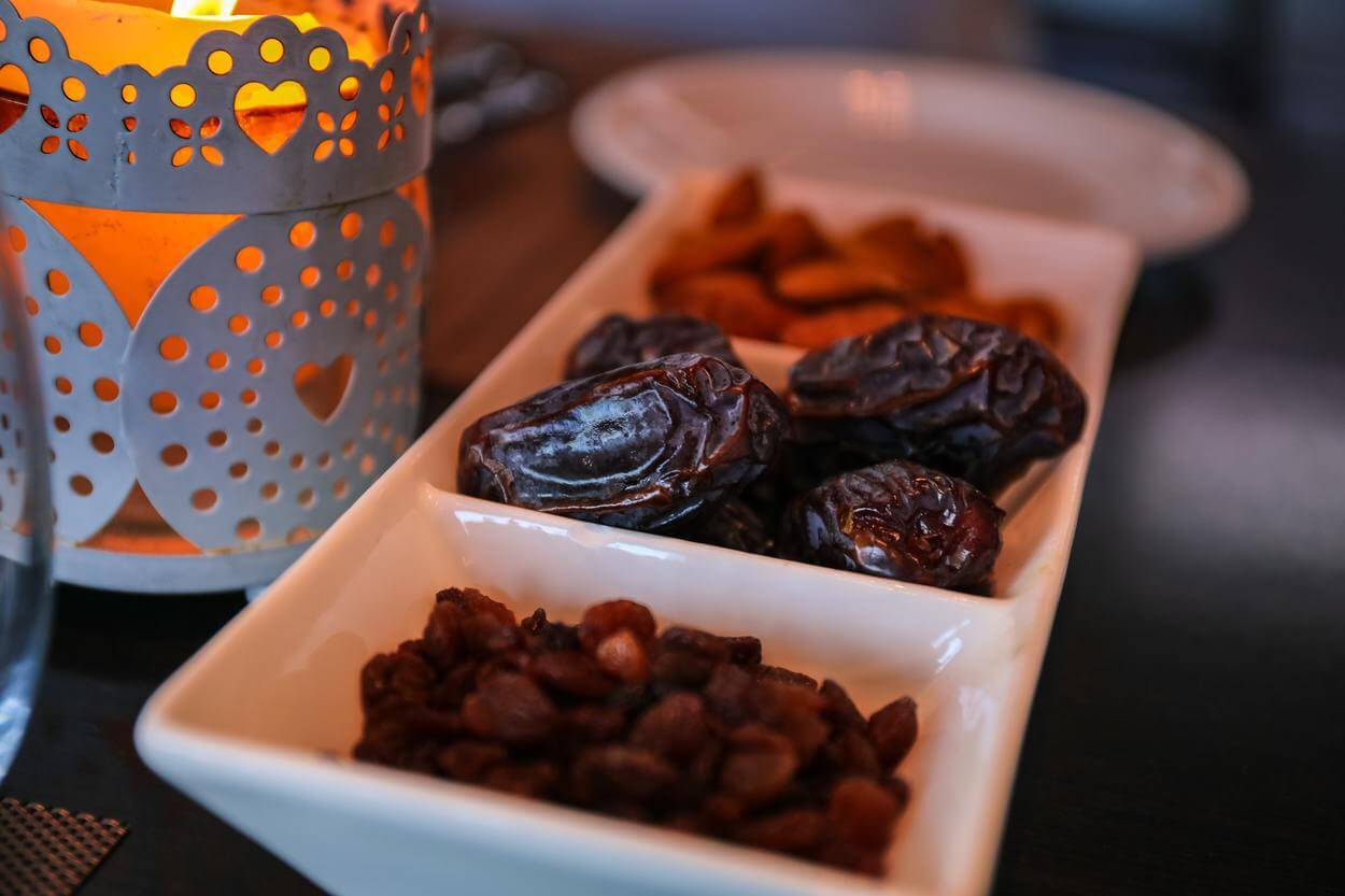 Prunes for breaking a fast during Ramadan.