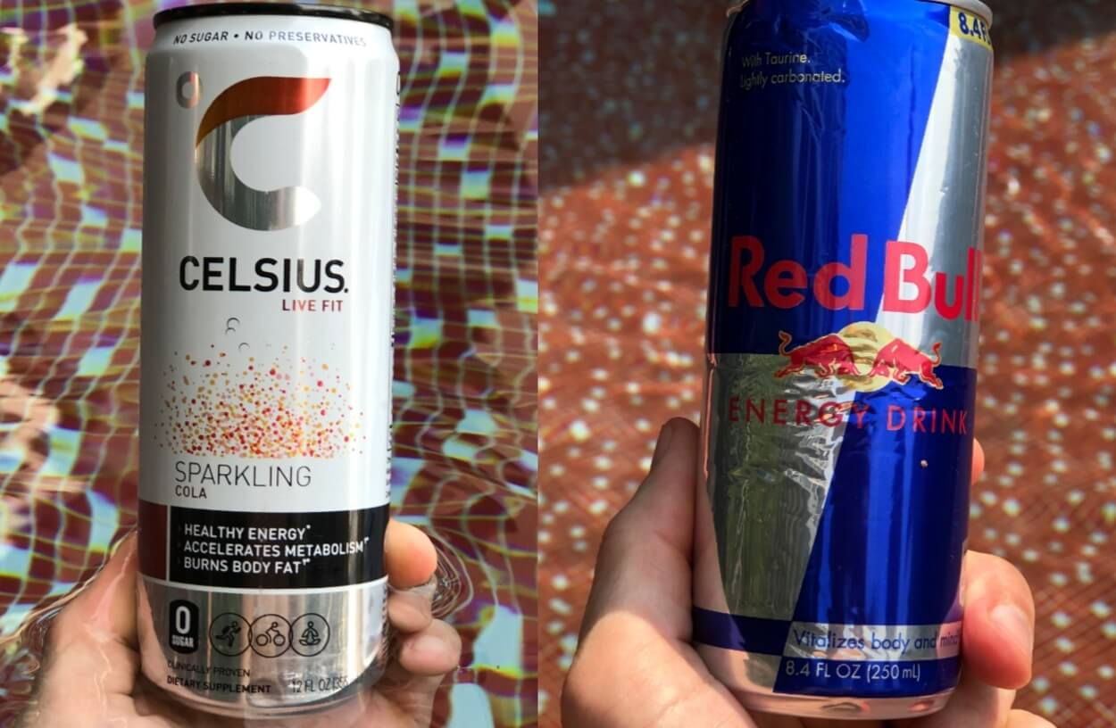 Celsius Energy being compared to Red Bull.