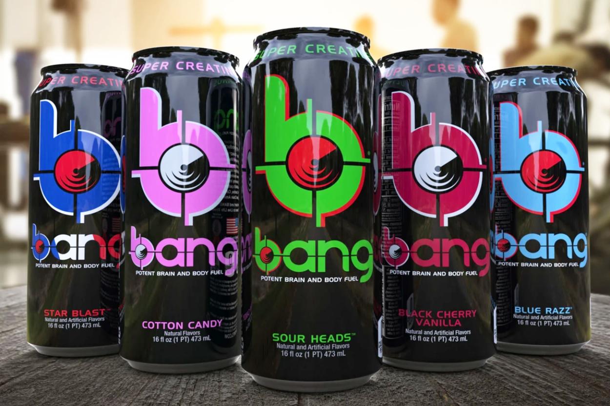 Bang Energy Drinks.