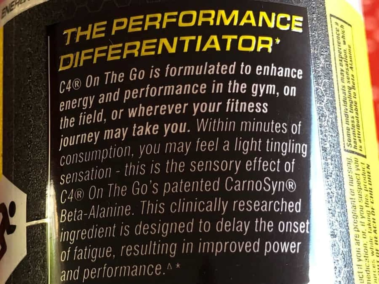 Description of the Performance Energy Blend In C4 Energy Drink.