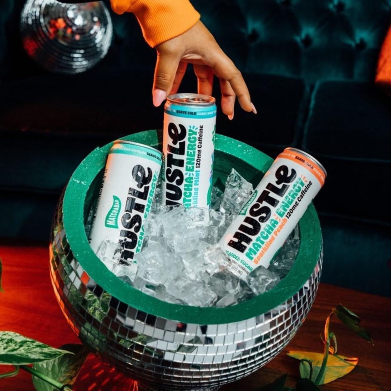 MatchaBar Hustle Energy Drink.