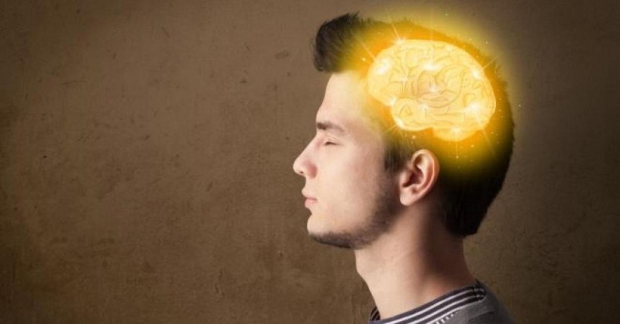 A man with a shining brain.