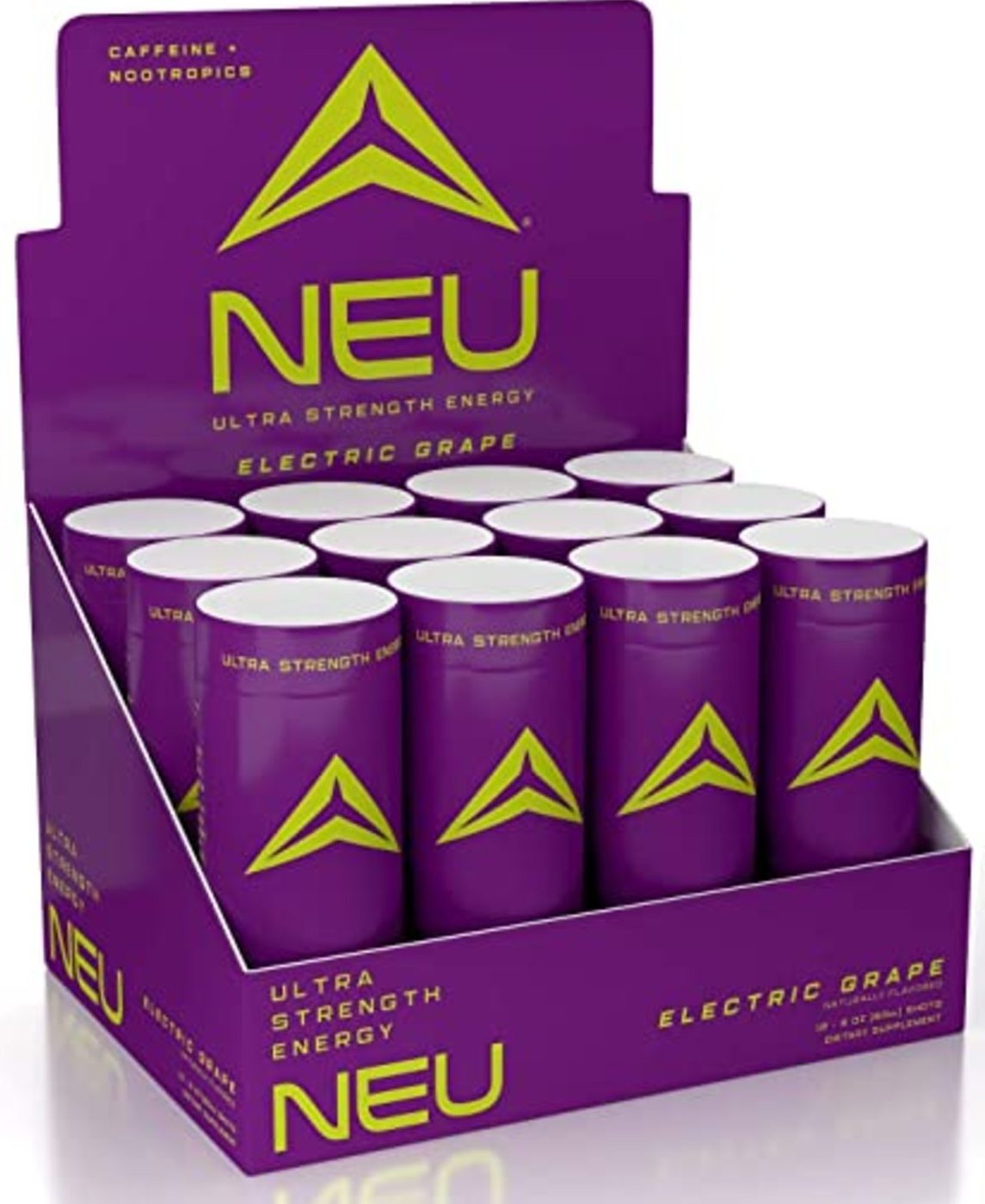 Cans of Neu drink.
