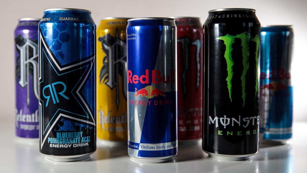 Various energy drinks.