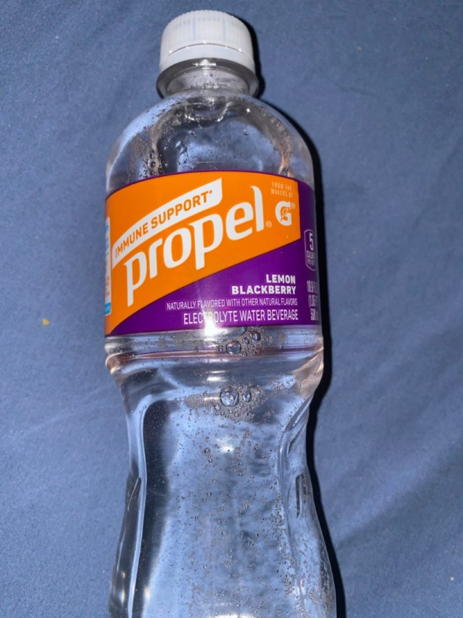 A bottle of Propel Immune Support.