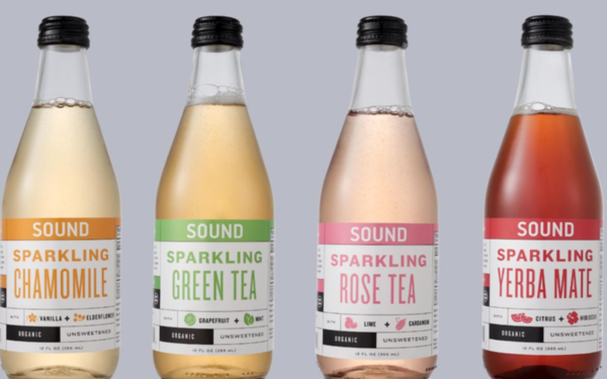 Bottles of Sound Sparkling Energy Drink.