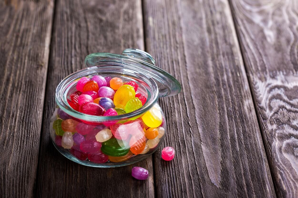 Sweets in a small bowl.
