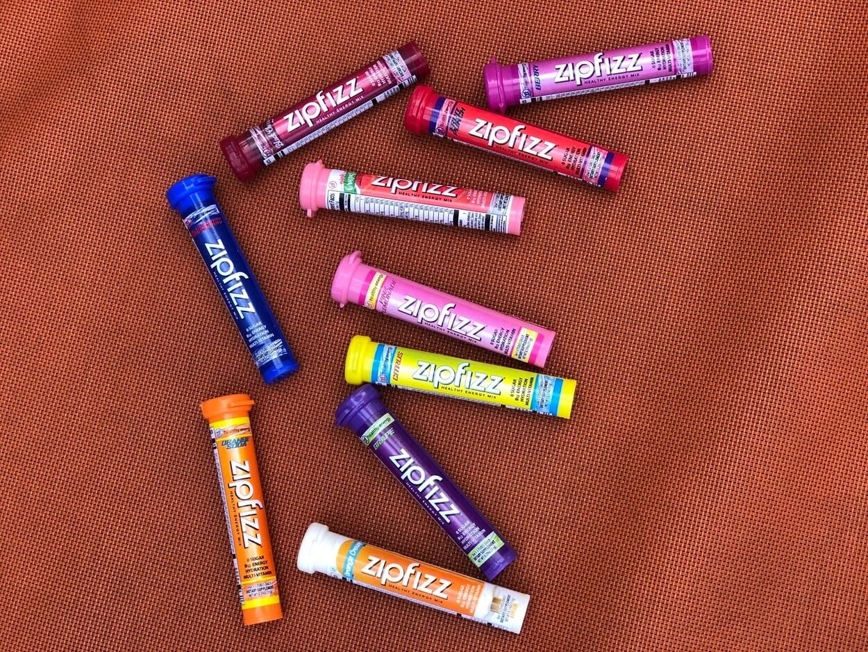 Some tubes of Zipfizz.