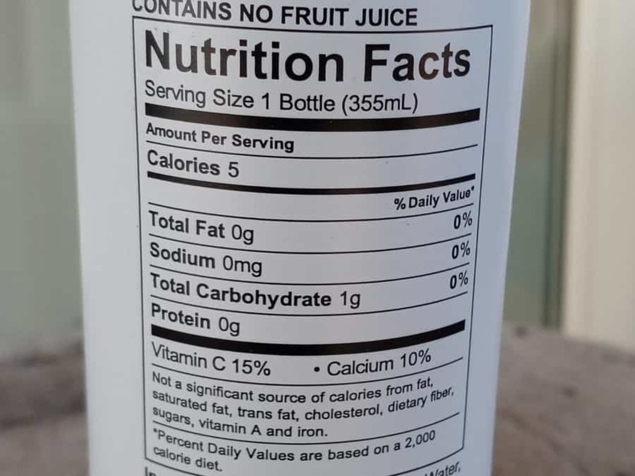 Nutritional Facts of Uptime Energy Sugar-free