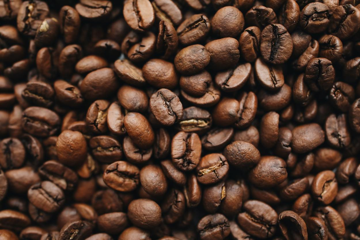 Zoomed image of coffee beans