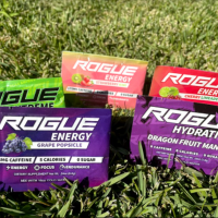 Rogue energy packs on the grass