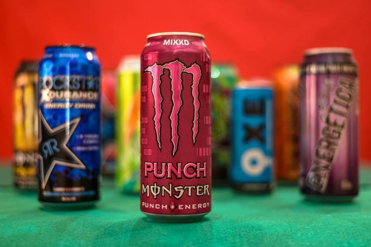 Different energy drinks brand.