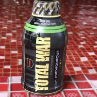 Ready-to-drink bottle of Total War Pre-workout